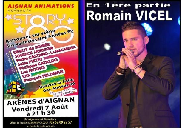 STORY 80 avec Romain VICEL en 1ère partie le vendredi 7 août à AIGNAN